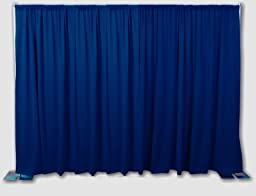 OnlineEEI BBD9990810CDPR290 Premier Portable Backdrop Kit 8\' x 10\', Navy Blue