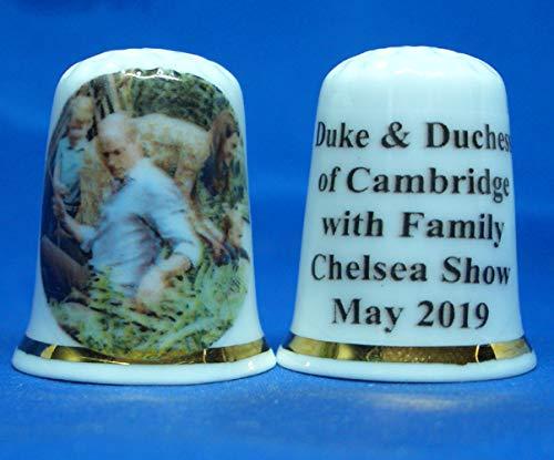 Birchcroft China Thimble - Duke & Duchess of Cambridge at Chelsea Show Box