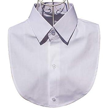 Amazon.com: Blusa blanca y negra desmontable cuello falso ...