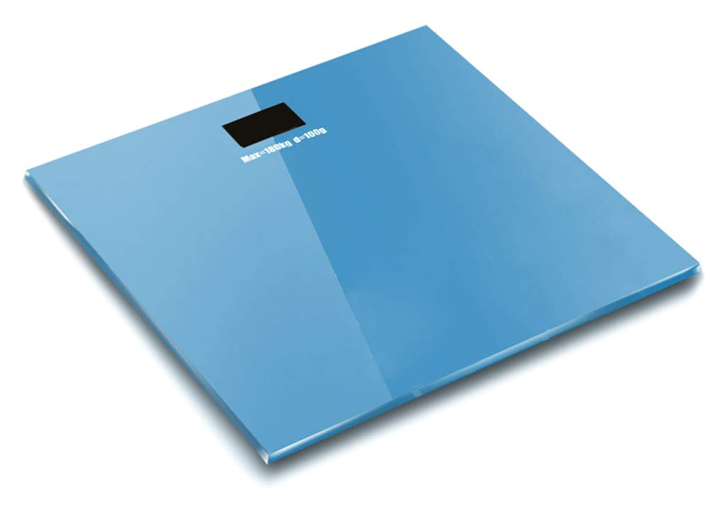 YVWTUC 2015K 180KG /100G High Strength Toughened Glass 4-Digits LCD Display Electronic Weighting Scale Sky Blue