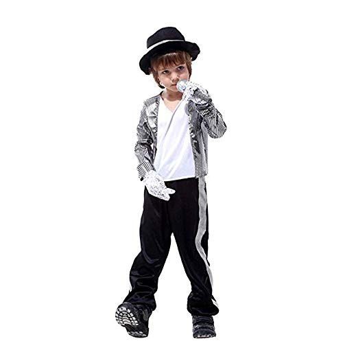 Boys Prince Performance Costumes Michael Jackson Clothing Stage Performance Dancewear (Medium)]()