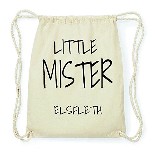 JOllify ELSFLETH Hipster Turnbeutel Tasche Rucksack aus Baumwolle - Farbe: natur Design: Little Mister