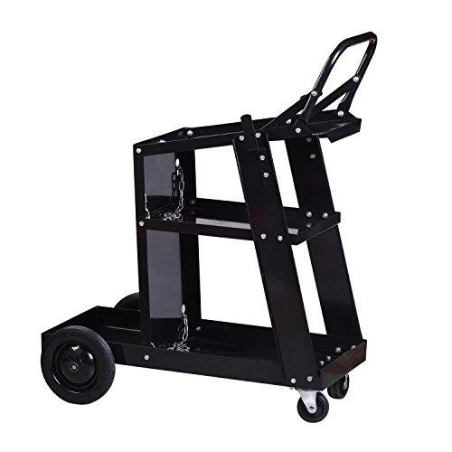 Ainfox Welding Cart Plasma Cutting Machine Trolley, Universal Welder Storage Bench with Silent Wheels by Ainfox