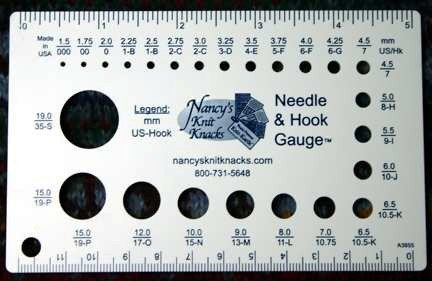 Needle & Crochet Hook Gauge by Nancy's Knit Knacks
