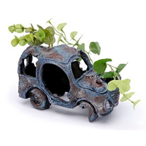 Penn Plax Car Wreck ? Medium - 8?L X 4?D X 5?H