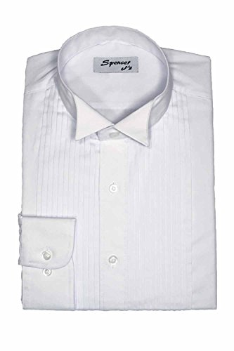 Spencer J's Tuxedo Shirt White Wingtip Collar 1/4