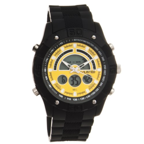 Unlisted by Kenneth Cole Mens Analog-digital Rubber strap Watch UL1196