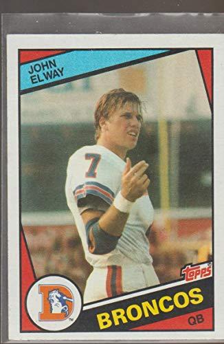 1984 Topps John Elway Broncos Rookie Football Card #63