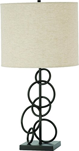Coaster Home Furnishings Drum Table Lamp Vintage Bronze and Beige - Set includes: One (1) table lamp Materials: Fabric and metal Fabric Color: Beige - lamps, bedroom-decor, bedroom - 41T5vtxACYL -