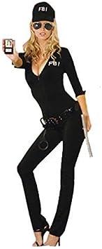 Adulto Sexy FBI Agent Disfraz Policía Policía Fancy Dress: Amazon ...
