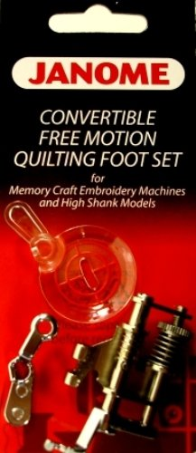Free Motion Foot Janome - Janome Convertible Free Motion Quilting Foot Set Memory Craft Emb Machines & High Shank Models