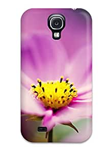 Premium Purple Cosmos Flower Heavy-duty Protection Case For Galaxy S4