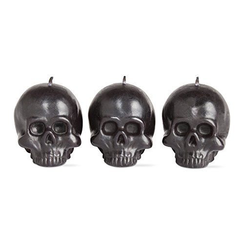 [tag Halloween Mini Skull Candle Set Of 3] (Halloween Candles)