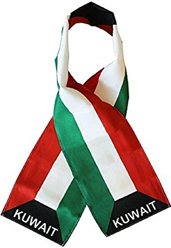 """Kuwait Country Lightweight Flag Printed Knitted Style Scarf 8""""x60"""""""