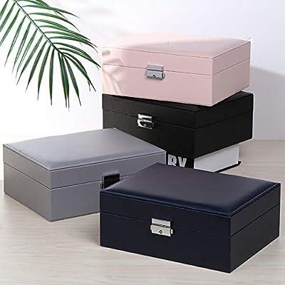 RANYAND Caja Joyero Organizador Pendientes De Botón Collar Caja De ...