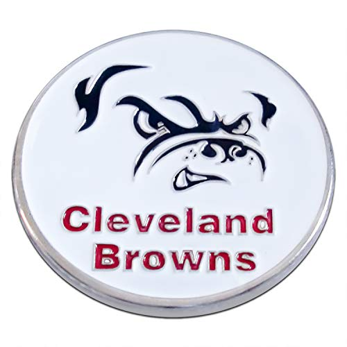 Art Crafter NFL Cleveland Browns Logos Challenge Coins, 1-Pack Two Side Printed No Licensed Decrotion Coin Bedge S029Y