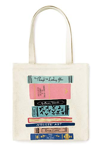 Kate Spade New York Canvas Book Tote (Stack of Classics), Medium