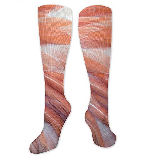 Compression Socks Tropical Flamingo Feather Girls Winter Sock Decor Tight Stocking for Womens Men Boys