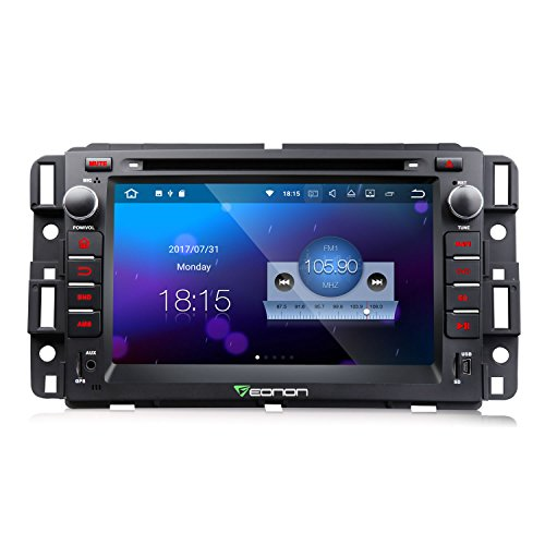 Eonon GA8180 Android 7.1 Nougat 7 Inch Car Stereo In Dash Touch Screen Radio Audio GPS Navigation for Chevrolet GMC Silverado Express Avalanche Acadia Impal 2GB RAM with DVD Player Bluetooth Head Unit by Eonon