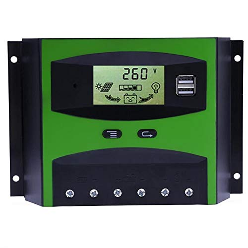 LINKALO 50A Current 12V/24V LCD Display PWM Solar Panel Adjustable Charge Discharge Controller Regulator Automatic Temperature by LINKALO
