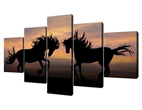 Yatsen Bridge Modern Horses Painting Wall Art Canvas