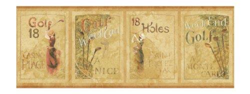 York Wallcoverings Europa II European Golf Weekend Prepasted Border, (Europa Wallpaper Border)