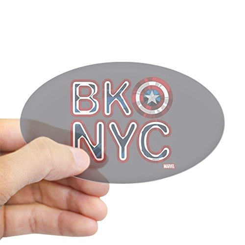 CafePress Captain America BKNYC Oval Bumper Sticker, Euro Oval Car Decal]()