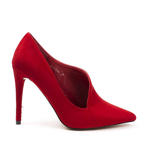 Ideal Shoes, Damen Pumps Rot