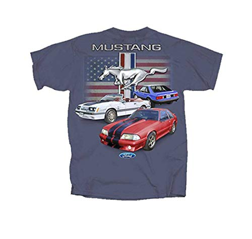 Joe Blow Ford Vintage Fox Body Mustang Flag T-Shirt-Small