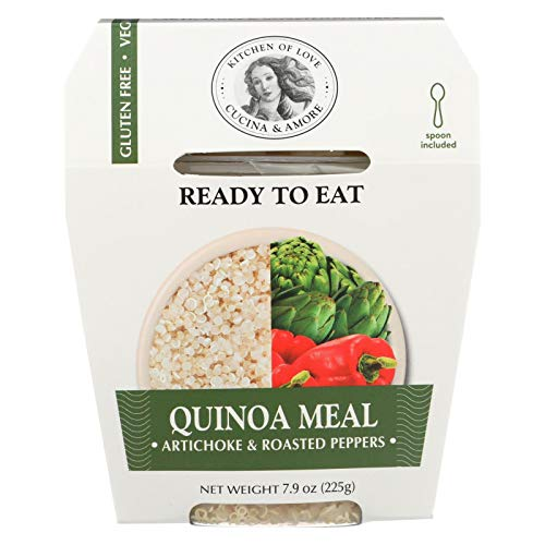 - Cucina and Amore Quinoa Meals - Artichoke and Roasted Pepper - Case of 6-7.9 Oz.