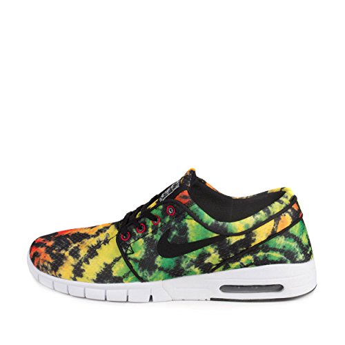 Nike Stefan Janoski Max Premium Shoe - Men's Tour Yellow/Green Pulse/University Red,