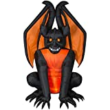 Home Accents Holiday 8.3 ft. Pre-Lit Inflatable Fire and Ice Gargoyle (RRPm) Airblown