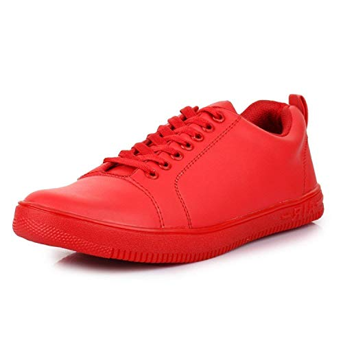 Shozie Men's Popular Stylish Sneaker Casual Shoes Red