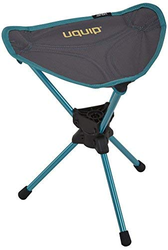 Uquip Three Sixty Mini - Ultra Lightweight 360° Swivel Camping Stool (Gray) by Uquip