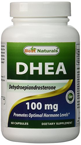 DHEA 100 mg 60 Capsules de meilleures Naturals - favorise le niveau hormonal optimal - fabriqué au USA certifié GMP et FDA inspecté installation et tierce partie test de pureté. Garantie!!