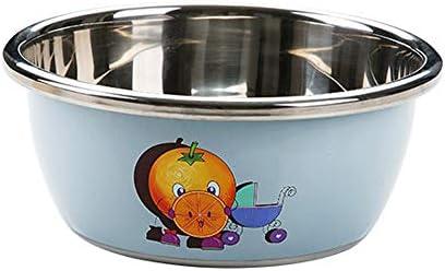 ステンレスボール|ボウル ステンレス ベーキング食品保存調理スープボウルをミキシングボウル太いアンチドリップをミキシングミキシングボウルステンレス製サラダボウルアンチスキッドベース (Size : Orange 24CM)