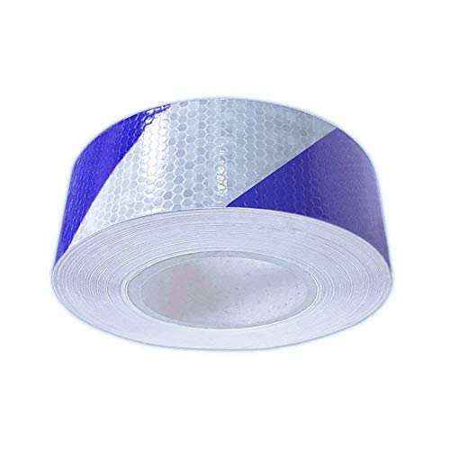 Reflective Hazard Tape Safety Reflectors Tape Blue White Diamond Types 2″×16.4′2 PCS
