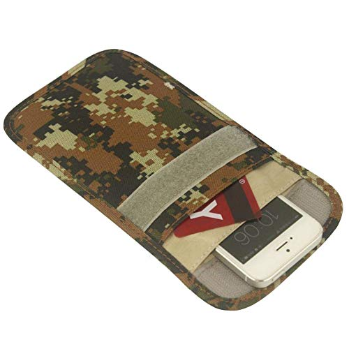 - Mengshen Anti-Tracking Anti-Spying Anti-Radiation Anti-degaussing Anti-Signal Pouch Signal Blocker Jammer,Cell Phone Handset Function Bag Pouch Case Wallet Purse MS-PX04Camo