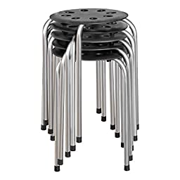 Norwood Commercial Furniture NOR-STOOLBS-SO Plastic Stack Stool, 17 3/4\