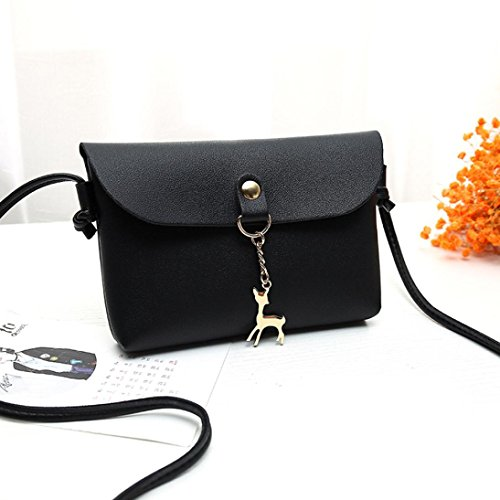 Vintage Red Bag Girl NXDA For Bag Messenger Leather Hasp Women Deer For Handbag Women Black Crossbody Shoulder Bag Pendant 7w5qTHFw