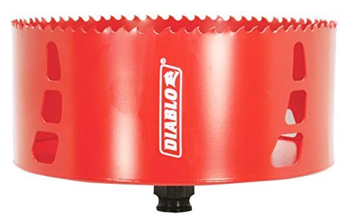 Freud DHS6000 Diablo High Performance Hole Saw Ideal for Drilling Wood, Plastic, Aluminum, Metal and Stainless Steel, 6 x 2-3/8 by Freud