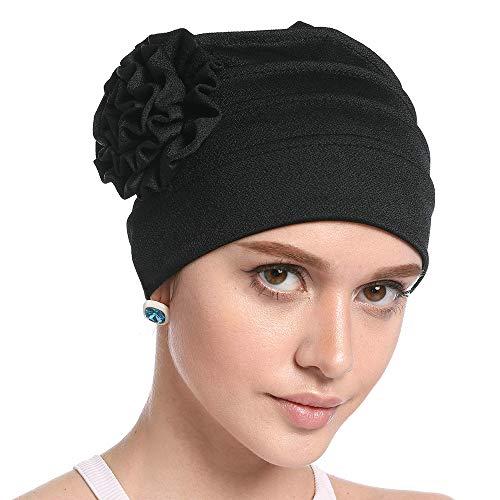 10240a6bce6 WETOO Women Chemo Hat Beanie Flower Headscarf Turban Headwear for Cancer