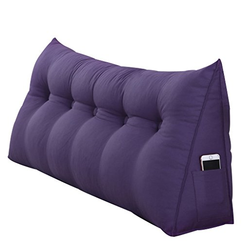 angular Pillow Lumbar Pillow Sofa Back Soft Pack Live Button Design Easy to take Apart and wash (Multicolor Optional) Ramps (Color : Purple, Size : 7050cm) ()