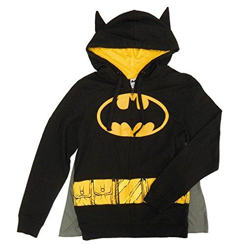 Adult Batman Hoodie (DC Comics Batman Mens Cosplay Hoodie with Ears and Cape)