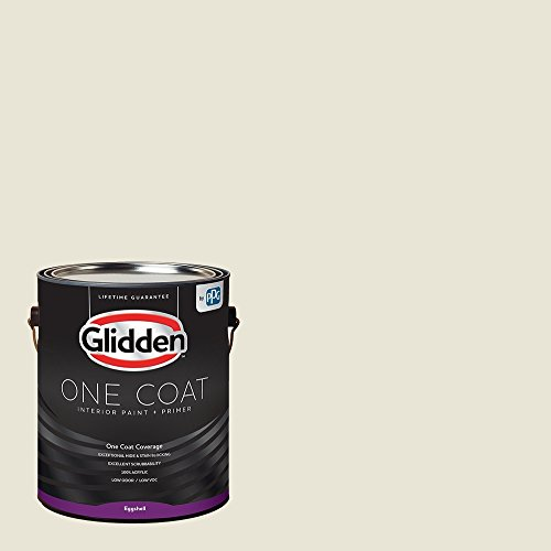 Glidden Interior Paint + Primer: White/Off White, One Coat, Eggshell, 1 - Paint Interior 01 Flat
