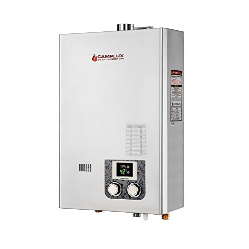 Camplux 10L 2.64GPM Indoor Color Screen Propane Tankless Water Heater with Vent Pipe by Camplux