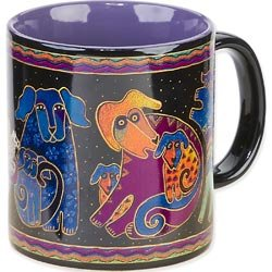 Laurel Burch LBM-312 Laurel Burch Artistic Mug Collection - Dogs & Doggies