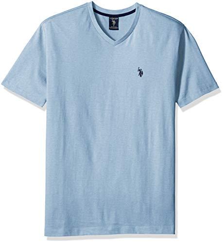 U.S. Polo Assn. Men's V-Neck T-Shirt, sea Blue Heather, L