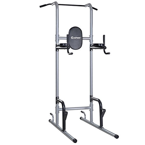 Costway Chin Up Tower Rack Pull Up Stand Bar Leg Raise Home Gym Workout Weight TKT-11 by TKT-11