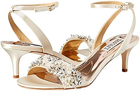 Badgley Mischka Women's Fiona Embellished Kitten Heel